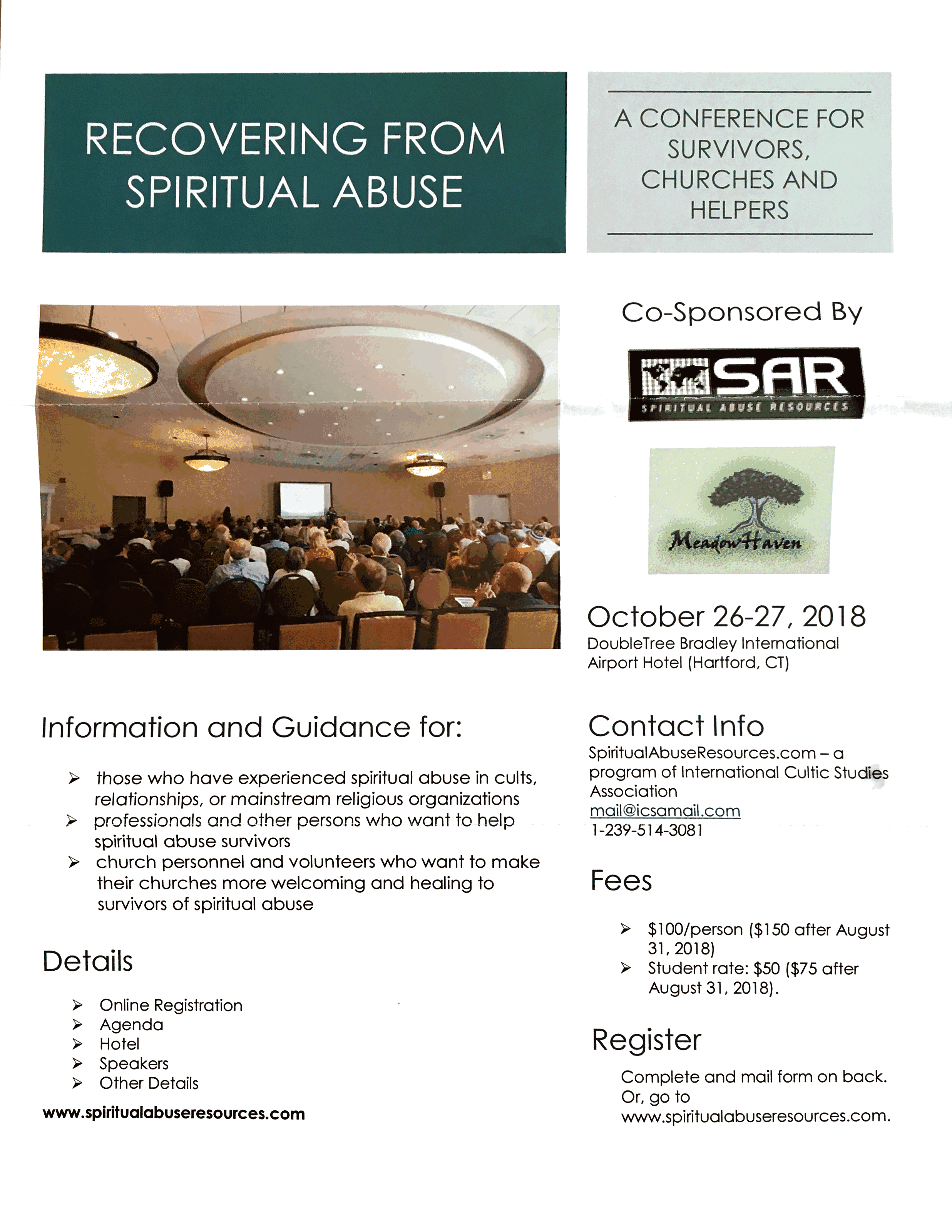 Conference: Recovering from Spiritual Abuse     - The Gentle